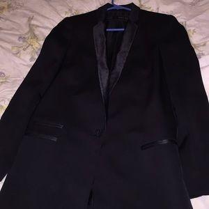 Zara dress-length tuxedo jacket
